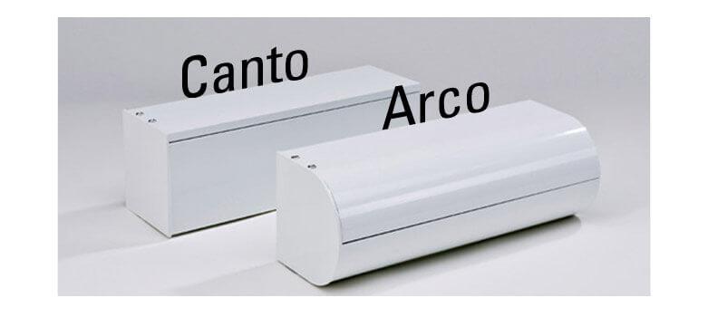 Senkrechtmarkise in zwei Ausführungen: Canto SD und Arco SD